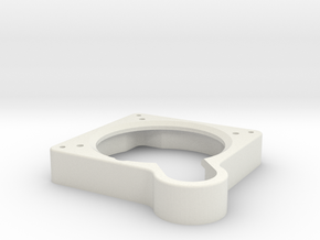P40 AH Adaptor Plate in White Natural Versatile Plastic