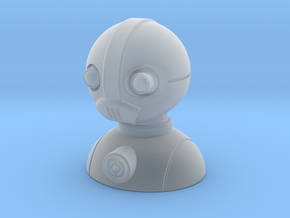 'Robust' robot bust design, model M7-001 in Smooth Fine Detail Plastic