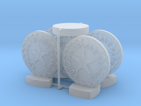"""Catcher Tokens (5pcs) - """"Badge"""" version in Smooth Fine Detail Plastic"""