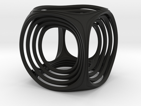 Gyro the Cube (Multiple sizes, from $11.50) in Black Strong & Flexible: Medium