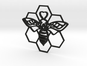The Bee Pendant in Black Strong & Flexible