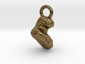 Comet 67P Keychain / Charm / Pendant in Natural Bronze