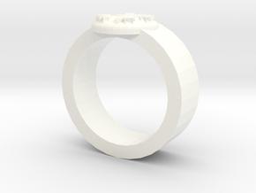 Winter Ring in White Processed Versatile Plastic