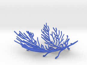 Small Delicate Coral Bowl in Blue Processed Versatile Plastic