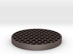 Honeycomb Killflash 48mm 1mm thick 4.62mm Clearanc in Polished Bronzed Silver Steel