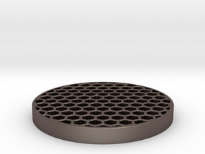 Honeycomb KillFlash 48mm 1mm thick 4mm Clearance in Polished Bronzed Silver Steel