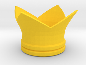 Melissa Seraphy cosplay mini crown in Yellow Processed Versatile Plastic