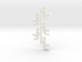 Flamers Flame Throwers 28mm scale in White Processed Versatile Plastic