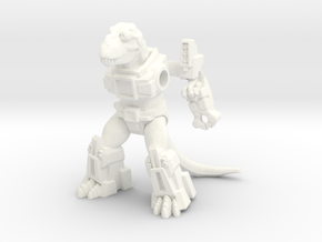 Rampager Rex in White Strong & Flexible Polished