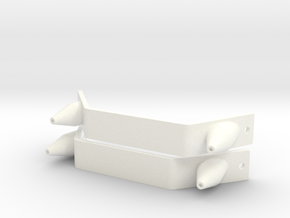 Pair of Toe Plates & Spikes MOW 2013-14 boots ROTJ in White Processed Versatile Plastic