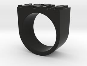 Cheetah Ring in Black Natural Versatile Plastic