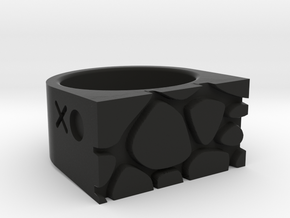 Giraffe Ring in Black Natural Versatile Plastic