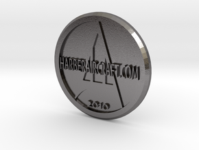 Harber Aircraft logo coin in Polished Nickel Steel