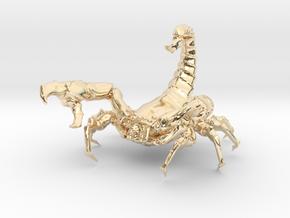 Alien-Scorpion in 14K Yellow Gold
