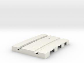 P-165stp-curve-tram-short-250r-pl-3a in White Natural Versatile Plastic
