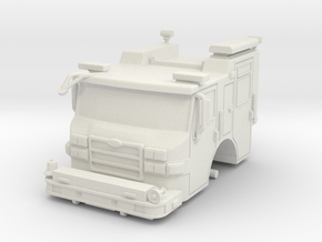 HO 1/87 Pierce Platform Cab in White Strong & Flexible