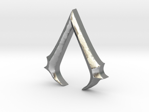 Rough Assassin's emblem in Natural Silver