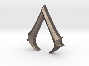 Rough Assassin's emblem in Polished Bronzed Silver Steel
