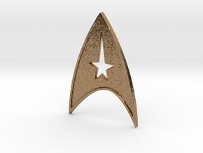 starfleet insigna - command in Natural Brass