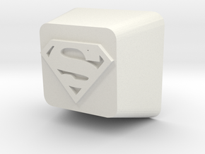 Cherry MX Superman Keycap in White Natural Versatile Plastic