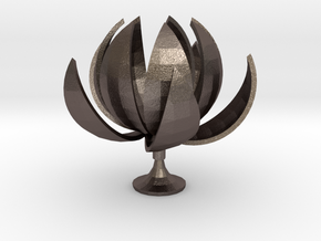 Lotus in Polished Bronzed Silver Steel