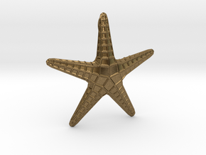 Starfish Pendant in Natural Bronze