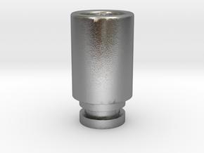 Simplistic 510 driptip in Natural Silver