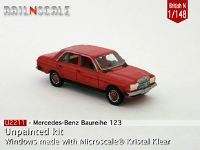 Mercedes-Benz W123 (British N 1:148) in Frosted Ultra Detail