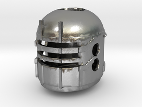 Isaac Clarke's Engineering Helmet from Dead Space  in Natural Silver