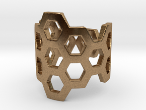 Polyaromatic Hydrocarbon Ring (Size 5.5) in Natural Brass