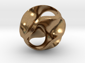 Gyroid Pendant in Natural Brass