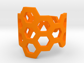 Polyaromatic Hydrocarbon Ring (Size 8) in Orange Processed Versatile Plastic