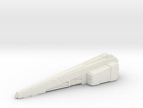 Custom board game piece - civilian transport in White Natural Versatile Plastic