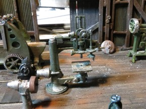 Radial Drill Press HO Scale in Frosted Ultra Detail