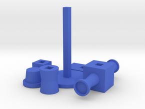 3D piramid in Blue Processed Versatile Plastic