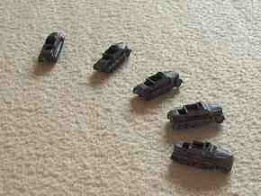 1/300 Armoured Sd.Kfz.7 Tractor x 5 in White Natural Versatile Plastic
