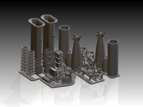 Complete Steam picket Upgrade 1/48 in Smooth Fine Detail Plastic