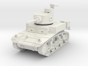 PV28 M3 Stuart w/horseshoe turret (1/48) in White Natural Versatile Plastic