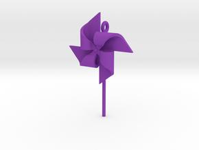 Pendant Pinwheel in Purple Processed Versatile Plastic