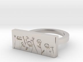 Flower Ring 2 in Platinum