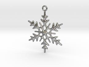 Little Romantic Snowflake Pendant in Natural Silver