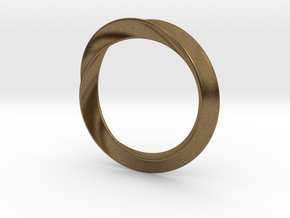 Heavy Bangle in Natural Bronze