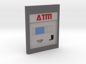 "Contemporary ATM for 4"" Figures in Full Color Sandstone"