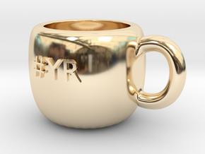 #YR Mug in 14K Yellow Gold