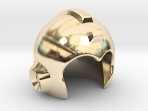 Mega Helmet in 14K Yellow Gold