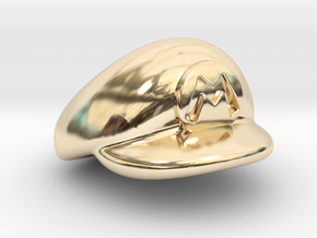 M-Plumber Cap in 14K Yellow Gold