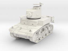 PV27B M3 Light Tank (28mm w/separate hatch) in White Natural Versatile Plastic