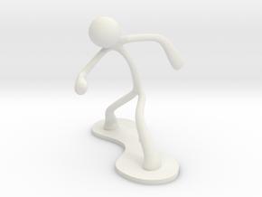 MTI Stickman-poses01 in White Natural Versatile Plastic