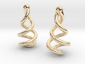 Helixial Circular Ear Rings in 14K Yellow Gold