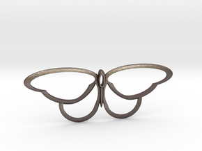flutterfly m3 in Polished Bronzed Silver Steel